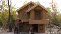 如何搭建简易的二层土坯别墅?小伙亲自尝试,一起来见识下?