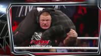 WWE帅小伙霸道抢占擂台,惹恼布洛克,下场真惨,观众心疼啊