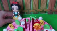 少儿益智玩具:白雪给妈妈做了蛋糕!