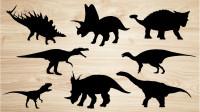学习认识阿根廷龙、钉状龙等8种恐龙