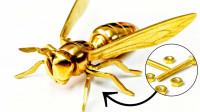 不起眼的螺栓螺母做成小黄蜂,只要手艺好,普通的东西玩出新花样
