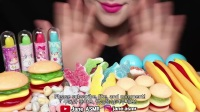 【Jane咀嚼音】 超Q弹的彩虹糖果(水晶果冻粉、汉堡软糖、热狗软糖、水果糖、 口红糖果、地球糖果、橡皮糖果)