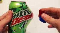 最强磁铁到底有多厉害?小伙用易拉罐测试,结果画面太壮观
