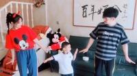 文松一家三口跳可爱舞蹈,满满的幸福感 好好吃饭 20200224