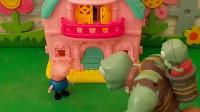 巨人僵尸让乔治看着小鬼,乔治就答应了,乔治很守信用