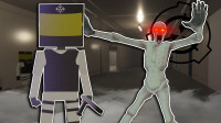 魔哒方块大乱斗:挑战SCP实验中心,怪物太强了见人就怼收容失败了