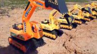 汽车总动员 哇 好多挖掘机水泥搅拌车消防车推土机翻斗车吊车