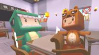 迷你世界:小肥龙学习偷懒,上课睡觉下课打篮球,被熊孩子一招治好!