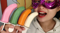 """小姐姐创意手工""""香蕉棒棒巧克力"""",果芬芳弯弯似月牙,甜蜜脆滑"""