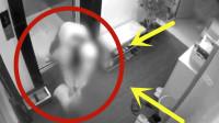 自家门口多次被人倒污秽物,监控看到邻居提桶坐电梯,泼完就走!