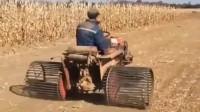 高手在民间,农村大爷巧改装拖拉机