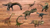 拼图游戏  认识马门溪龙、角鼻龙等8种恐龙