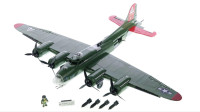 LEGO乐高积木玩具Cobi系列5703历史收藏B17飞行堡垒套装速拼