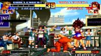 拳皇96:坂崎良助力雅典娜秀神技,第12秒小姐姐开始表演变火球飞天