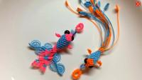 创意编织手工——用绳子编一条金鱼挂饰