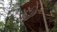 建造木屋 树屋 树屋自行车电梯升级