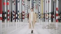 穿越林木竖栏的雀跃前行 · 爱马仕 · 2020秋冬巴黎女装系列