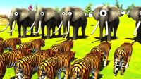 魔哒动物对战模拟器:动物世界生物全员出动,大猩猩真的好强