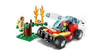 LEGO乐高积木玩具城市系列60247森林失火救援套装速拼