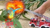 工程车玩具,消防车玩具救火系列工程车
