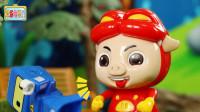 儿童玩具故事:猪猪侠骗布鲁可狼来了,布鲁可上当了几次