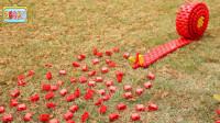 大颗粒小颗粒积木拼搭新年红火鞭炮