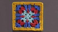 漂亮的祖母方格系列,一款枣花彩拉格编织教程,可拼接成各种作品
