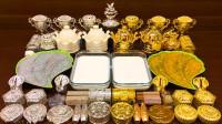 这是我见过最土豪的混泥了!一桌子的金色跟银色,无硼砂超过瘾
