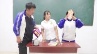 学霸王小九校园剧:老师让学生比赛用最懒的方法吃泡面,俩学生各有奇招,太有趣了