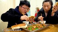买光镇上所有品种的辣椒炒一只鸡,辣椒鸡蘸大饼子加餐,太馋了