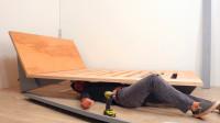 用胶合板制作一张床,果然够简单,就怕不结实
