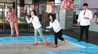 """学霸王小九:老师让学生比赛""""花样蹦床"""",没想女同学一个比一个厉害,太逗了"""