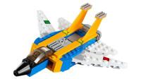 LEGO乐高积木玩具创意系列31042喷气飞机套装速拼