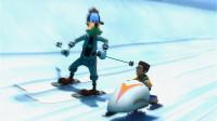 魔哒迪斯尼乐园游02:高飞带我挑战大脚怪,扔雪球的技术我可是无敌的