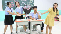 学霸王小九校园剧:女同学送老师一束满天星,没想老师对花粉过敏狂打喷嚏,太逗了