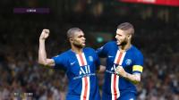 实况足球2020大师联赛202:巴黎VS梅斯,姆巴佩双响 淡水解说