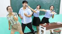 学霸王小九:老师请同学吃蛋糕,没想女同学把蛋糕抹在老师脸上庆祝!太调皮了