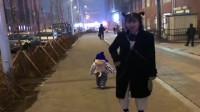 """南京小姨扎个""""哪吒头"""",路过假装不认识,接下来外甥的反应,太逗了"""
