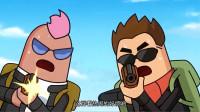 搞笑吃鸡动画:大魔王师兄弟决斗,围观群众看热闹,结果统统被干掉