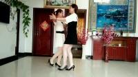 双人广场舞!黄玫瑰中三步