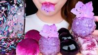 几款创意的紫色小甜点,软糯香甜的口感,简直梦幻少女心