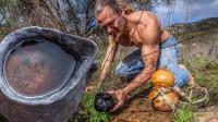 肌肉哥荒野求生,寻找干净的水源,这是最关键的一步