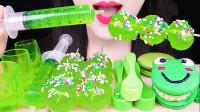 眼疲劳时最适合吃的美味甜点,一桌子绿色真是养眼,各种口味爽翻味蕾