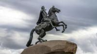 十二月党人广场 彼得大帝青铜骑士雕塑 圣彼得堡的象征