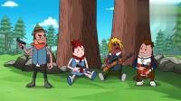 搞笑吃鸡动画:吃鸡小队以为这把稳了,刚从草丛走出来就死了