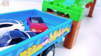 掘机视频表演大全挖土机玩具视频 玩具 变形警车珀利玩具107