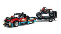 LEGO乐高积木玩具科技机械组系列42106卡车与摩托车特技表演套装速拼