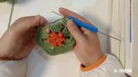 钩针编织:DIY创意手工编织花形杯垫