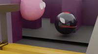 趣味吃豆人游戏:粉色吃豆人vs怪物吃豆人