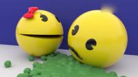 趣味吃豆人游戏:吃豆人在迷宫内遇到了很多有趣的事情